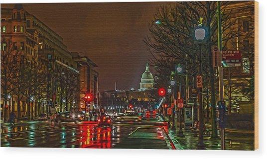 D.c. Traffic Wood Print