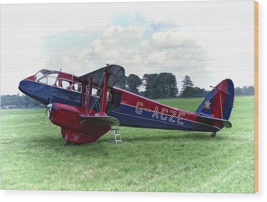 De Havilland Dragon Rapide Wood Print