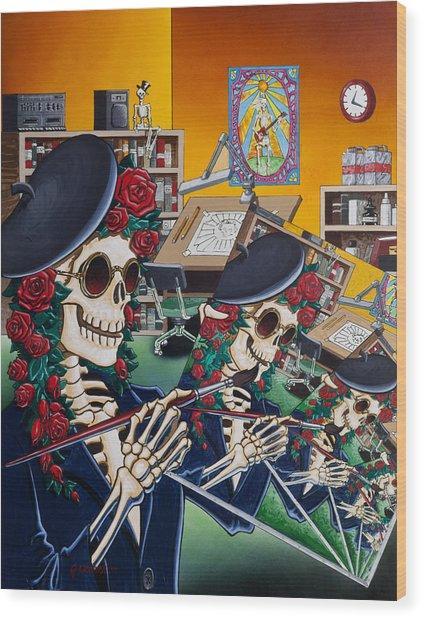 Dead Artist Society Wood Print