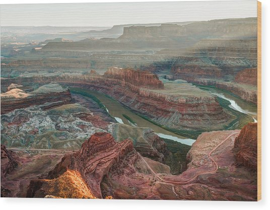 Dead Horse Point At Sunset Wood Print