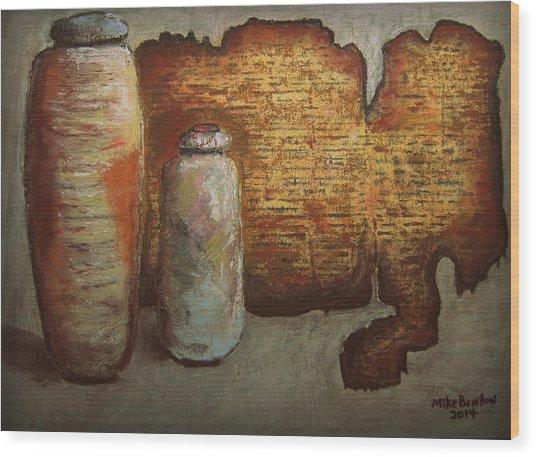 Dead Sea Scrolls Wood Print