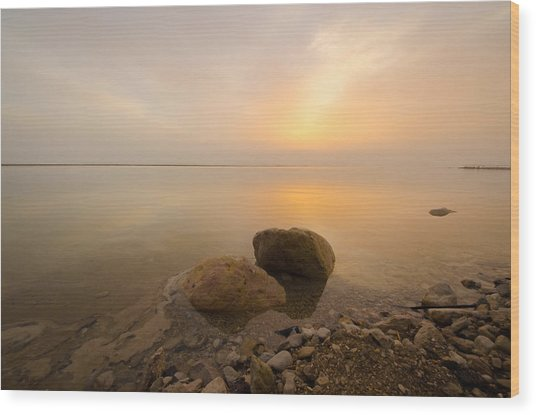 Dead Sea Sunrise Wood Print