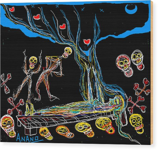 Deadly Dream Wood Print by Anand Swaroop Manchiraju