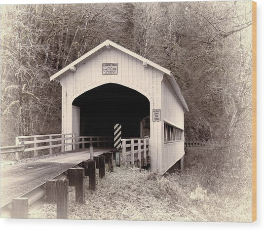 Deadwood Covered Bridge Wood Print
