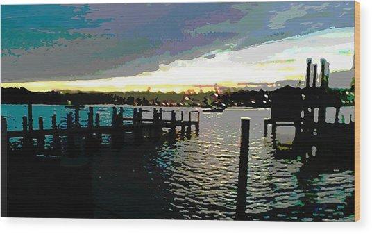 Deale Maryland Harbour Seascape Wood Print