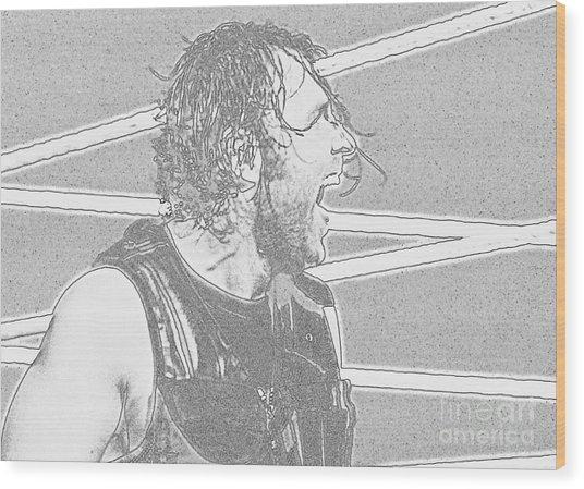 Dean Ambrose Wood Print