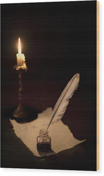 Dear Diary... Wood Print
