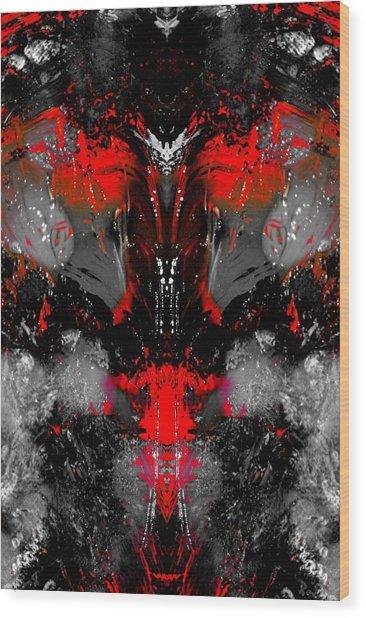 Death At Night Wood Print by Paul Gavin