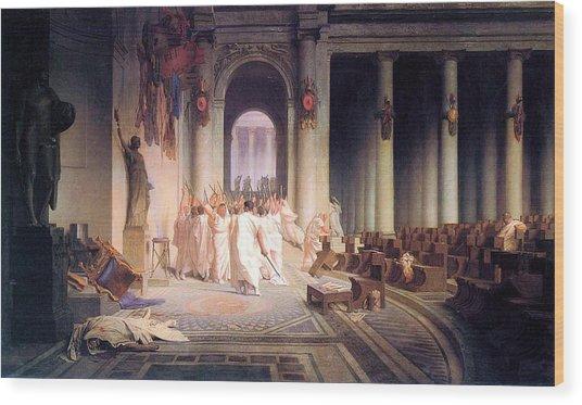Death Of Caesar Wood Print
