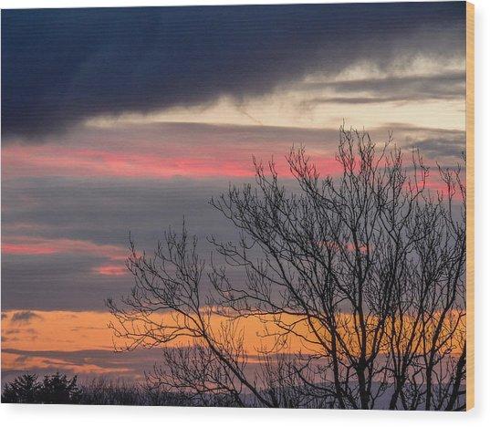 December County Clare Sunrise Wood Print
