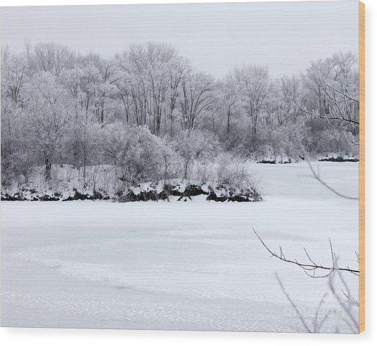 December Lake Wood Print