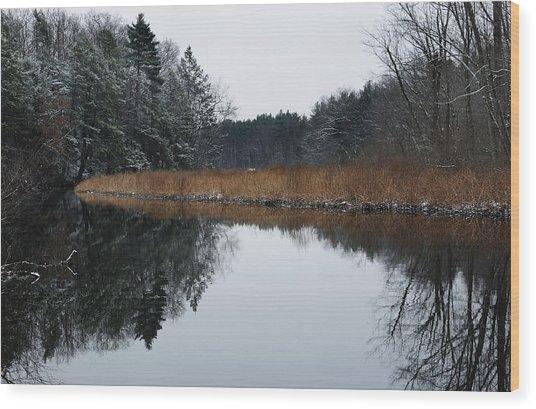 December Landscape Wood Print