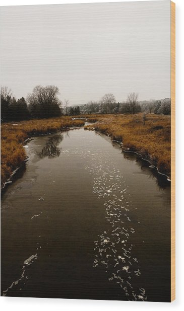 December River Wood Print by BandC  Photography
