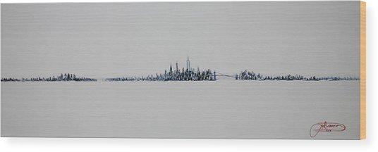 December Sky Wood Print