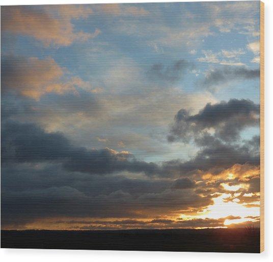 December Sunset Wood Print by Susan Desmore