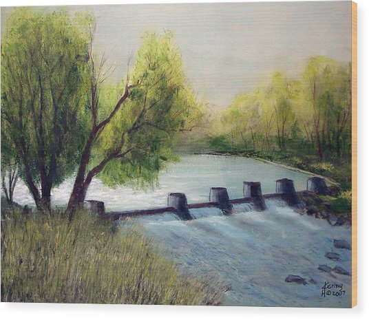 Dechutes River Wood Print