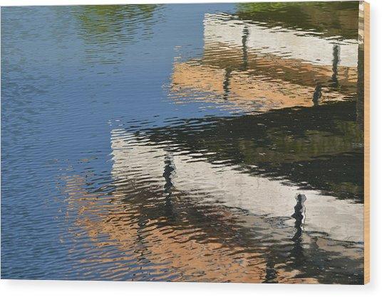 Deck Reflections Wood Print