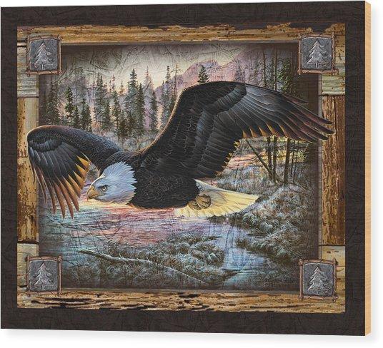 Deco Eagle Wood Print