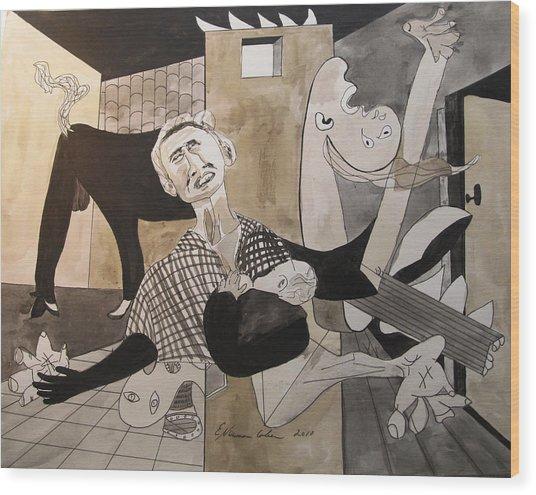 Deconstructing Picasso - La Agonia Espanola Wood Print