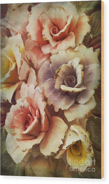 Decoration Flower Wood Print