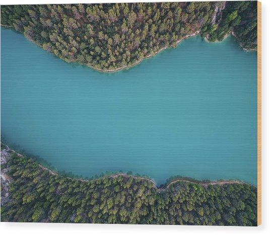 Deep Blue Wood Print by Antonio Carrillo Lopez