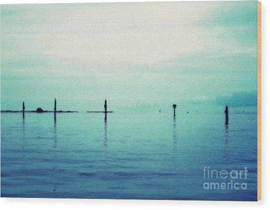 Deep Blue Bay Wood Print by Scott Allison