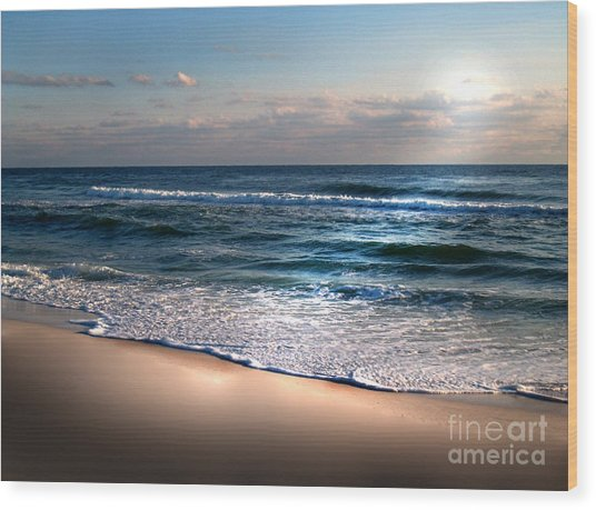 Deep Blue Sea Wood Print by Jeffery Fagan