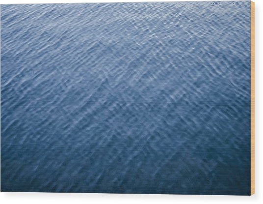 Deep Blue Water Wood Print