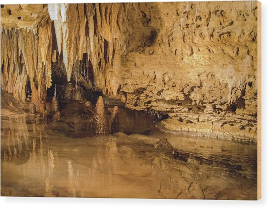 Deep In The Cave Wood Print