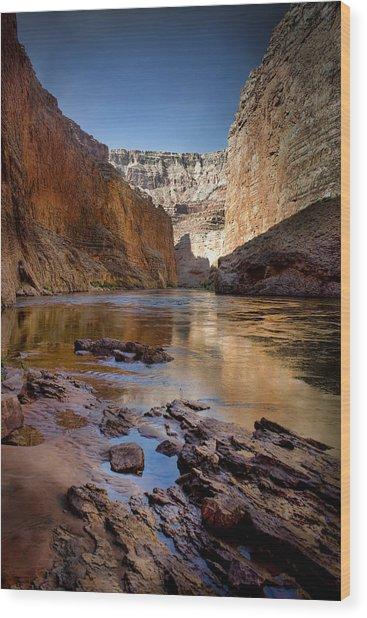 Deep Inside The Grand Canyon Wood Print