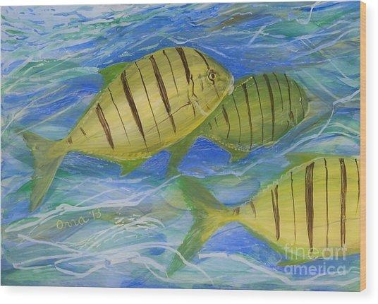 Deep Ocean Wood Print