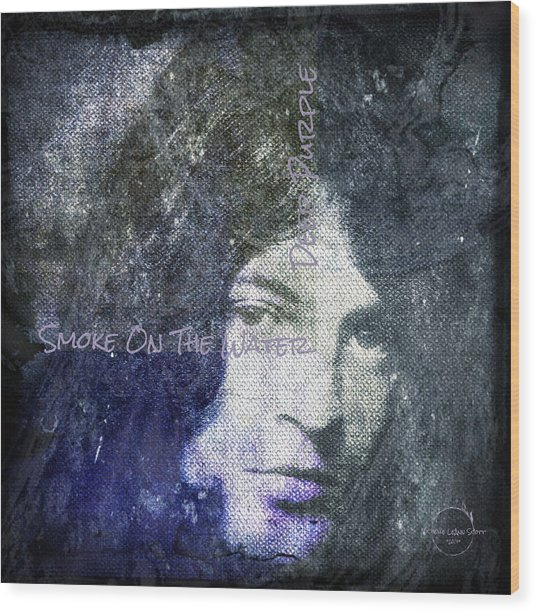 Deep Purple - Smoke On The Water Wood Print
