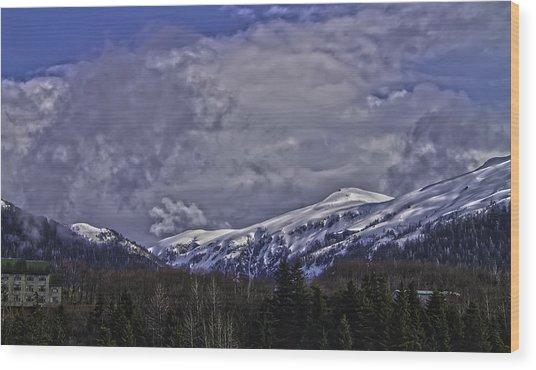 Deer Mountain R1 Wood Print