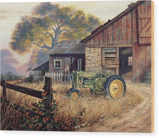 Deere Country Wood Print