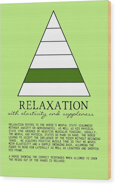 Relaxation Defined Wood Print by JAMART Photography