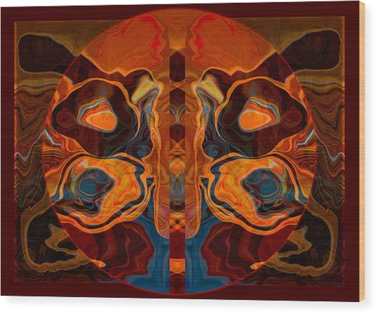 Deities Abstract Digital Artwork Wood Print