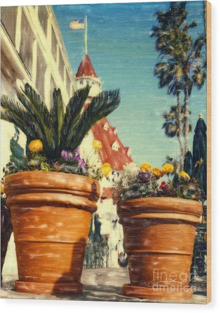 Del Flowers - V Wood Print