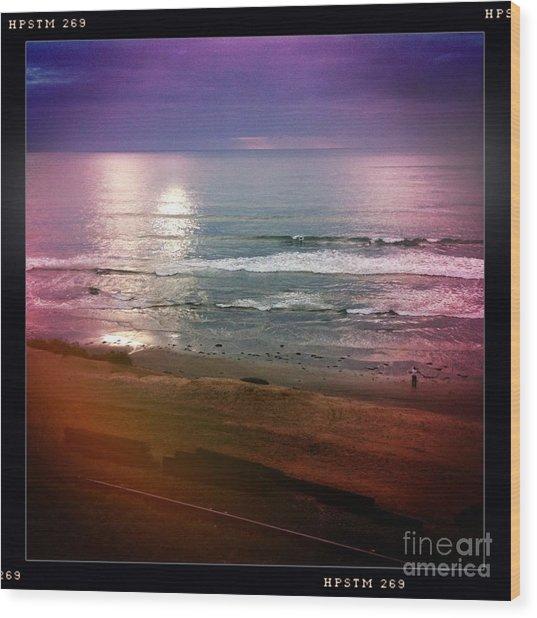 Del Mar Wood Print