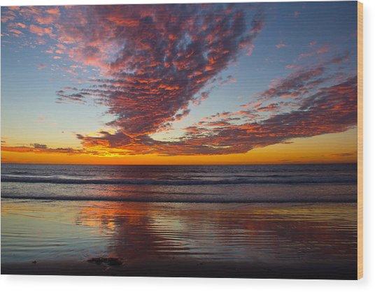 Del Mar Sunset 14 Wood Print