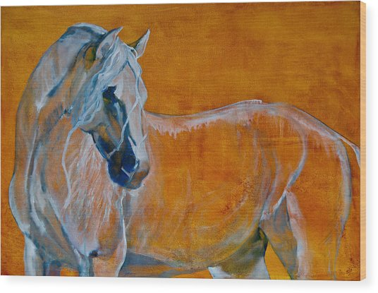 Wood Print featuring the painting Del Sol by Jani Freimann