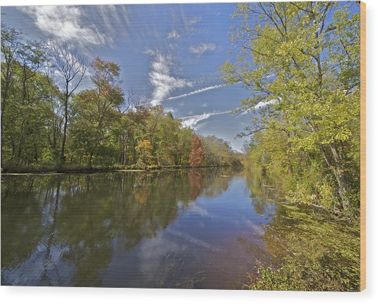 Delaware And Raritan Canal Wood Print