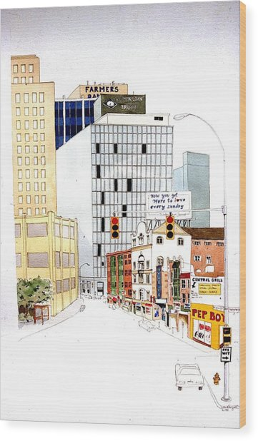 Delaware Avenue Wood Print