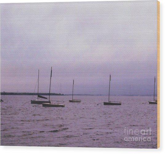 Delaware Harbor Wood Print