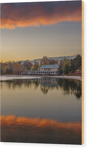 Delaware Park Marcy Casino Autumn Sunrise Wood Print