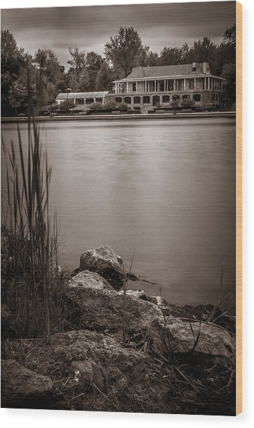 Delaware Park Marcy Casino Wood Print