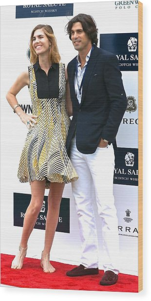 Delfina Blaquier And Nacho Figueras Wood Print