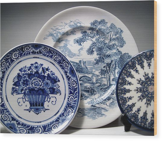 Delft And Wedgewood 2 Wood Print