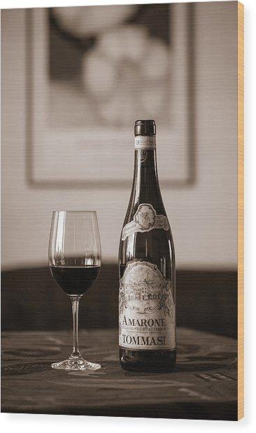 Delicious Amarone Wood Print