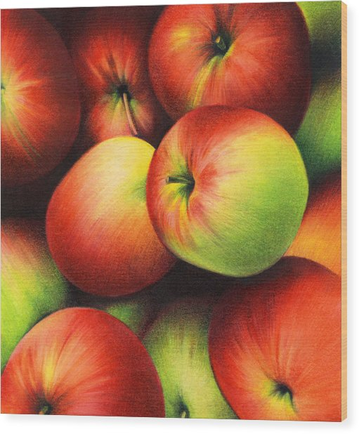 Delicious Apples Wood Print