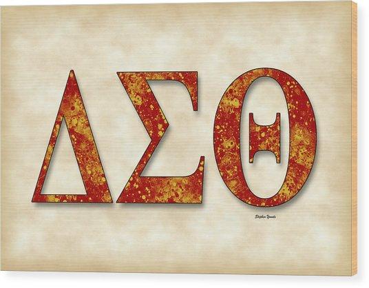 Delta Sigma Theta - Parchment Wood Print